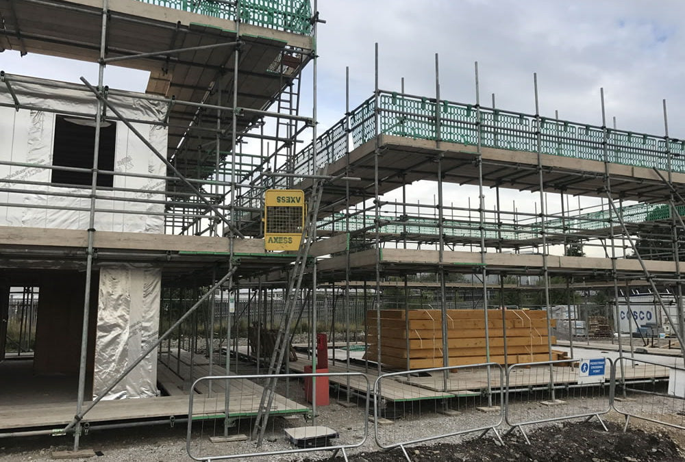 New Build Housing Scaffolding