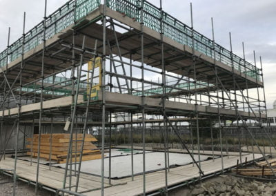 Scaffolding for timber frame