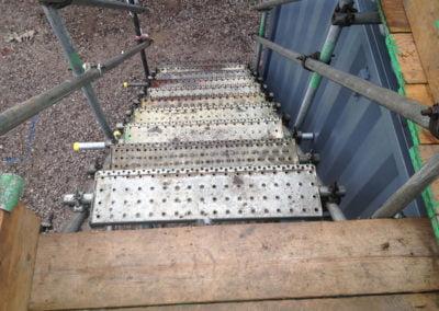 Steps to storage